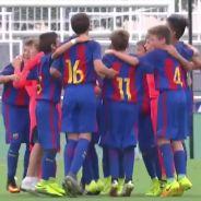 A seulement 12 ans, ces futurs pros du Barça réconfortent leurs adversaires en larmes 👏
