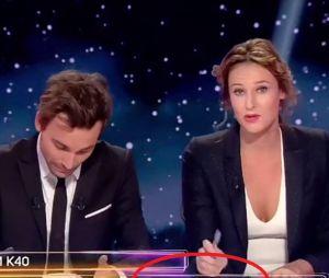 """Bertrand Chameroy et Adèle Galloy : """"Jérémy Ferrari +20"""", la petite blague discrète pendant OFNI le 11 octobre 2016 sur W9"""