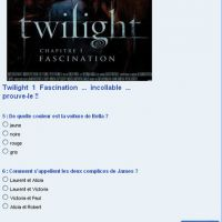 Twilight Fascination, es-tu incollable ?