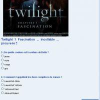 Twilight Fascination, es-tu incollable ?
