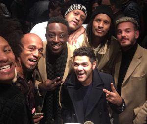 Jamel Debbouze entouré de M. Pokora, Ahmed Sylla et les Twins.