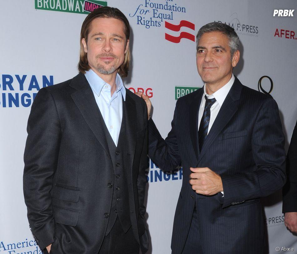 """George Clooney aurait conseillé à son ami Brad Pitt de sortir avec """"la plus belle femme célibataire d'Hollywood""""."""