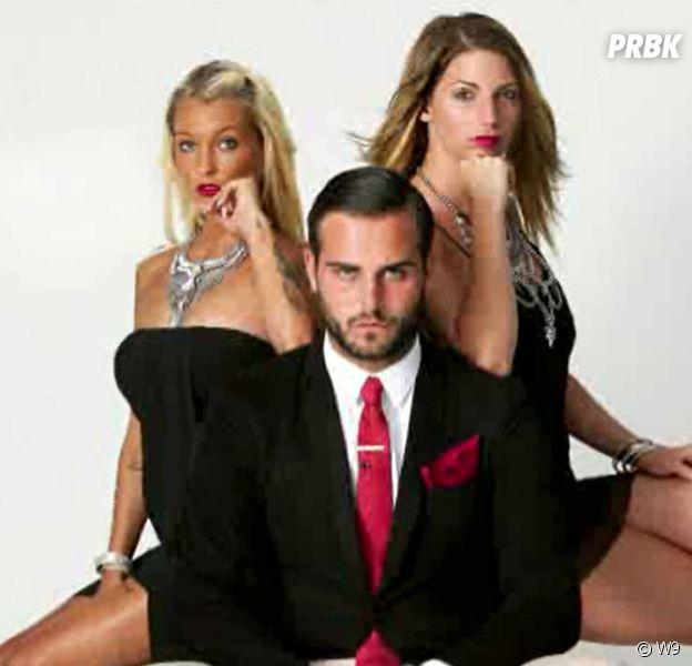 Nikola (Les Marseillais & les Ch'tis VS Monde) proche de Nadège Lacroix et Aurélie Dotremont pour un shooting en moide James Bond