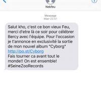 """""""Cyborg"""" : Nekfeu lâche son nouvel album par surprise... en plein show à Paris 🔥"""
