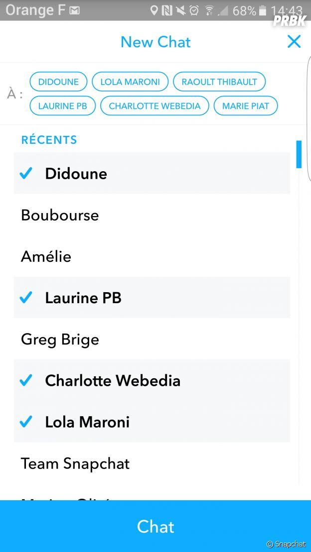 Les conversations de groupe débarquent sur Snapchat !
