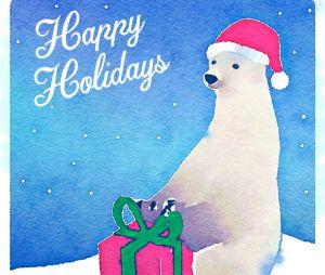 Plein de cartes de voeux pour les fêtes de fin d'année.