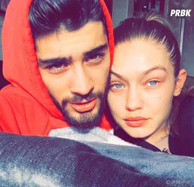 Gigi Hadid sans maquillage : elle s'affiche avec son amoureux Zayn Malik sur Snapchat.