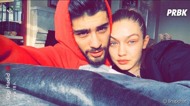 Zayn Malik et Gigi Hadid : le couple en mode cocooning sur Snapchat.