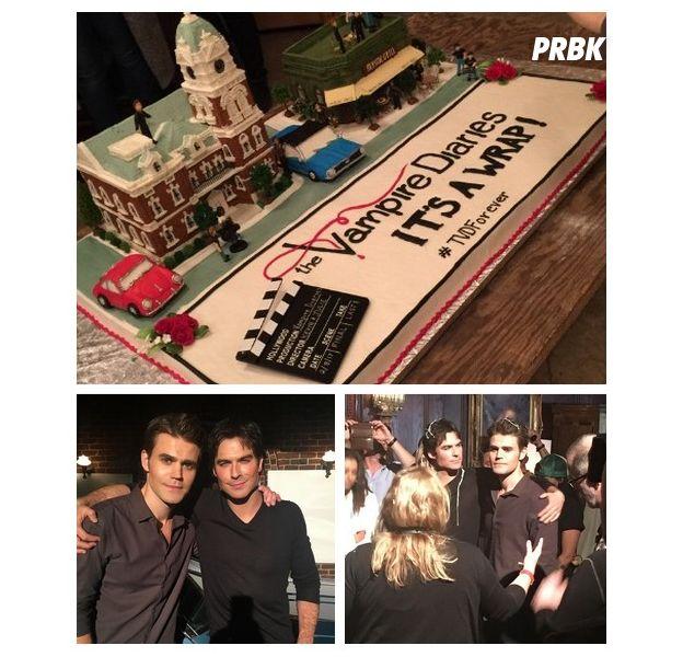 The Vampire Diaries saison 8 : les acteurs fêtent la fin du tournage