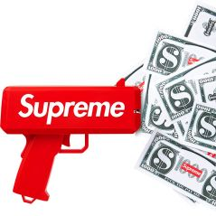 Supreme fait pleuvoir la monnaie avec son gun à billets 🤑💸