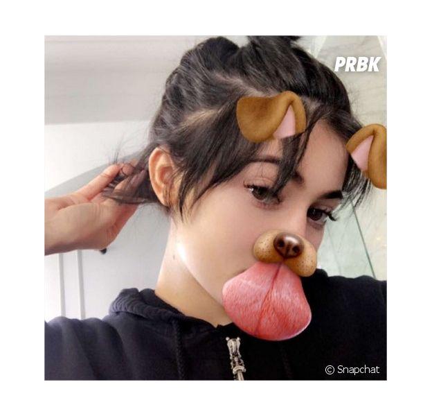Kylie Jenner dévoile ses cheveux au naturel sur Snapchat le 5 mai 2017