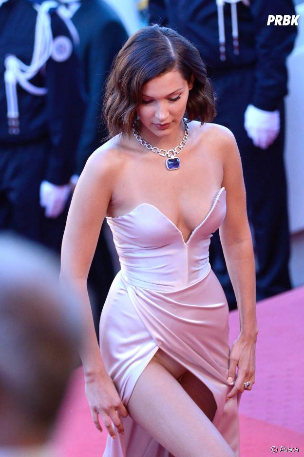 Bella Hadid : sa culotte s'invite encore au Festival de Cannes le 17 mai 2017