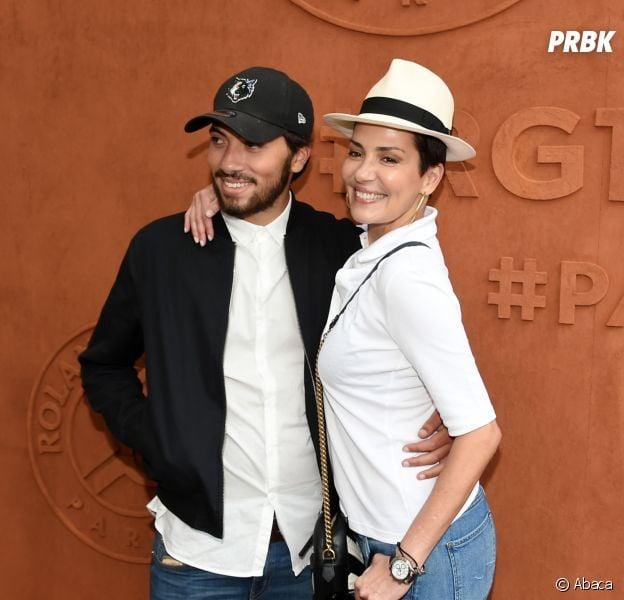 Cristina Cordula et son fils Enzo prennent la pose à Roland-Garros le 30 mai 2017