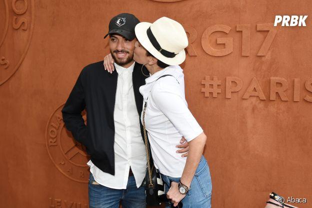 Cristina Cordula et Enzo à Roland Garros le 30 mai 2017