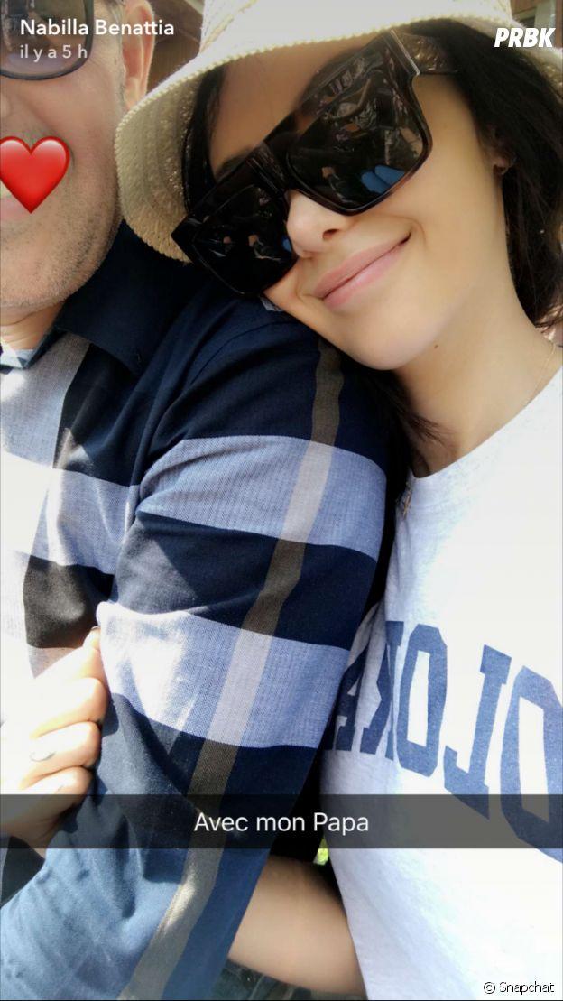 Nabilla Benattia en compagnie de son papa sur Snapchat