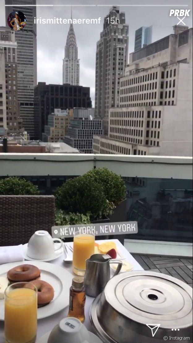 Kev Adams et Iris Mittenaere se retrouvent à New York et dévoilent leur petit-déjeuner sur Instagram !