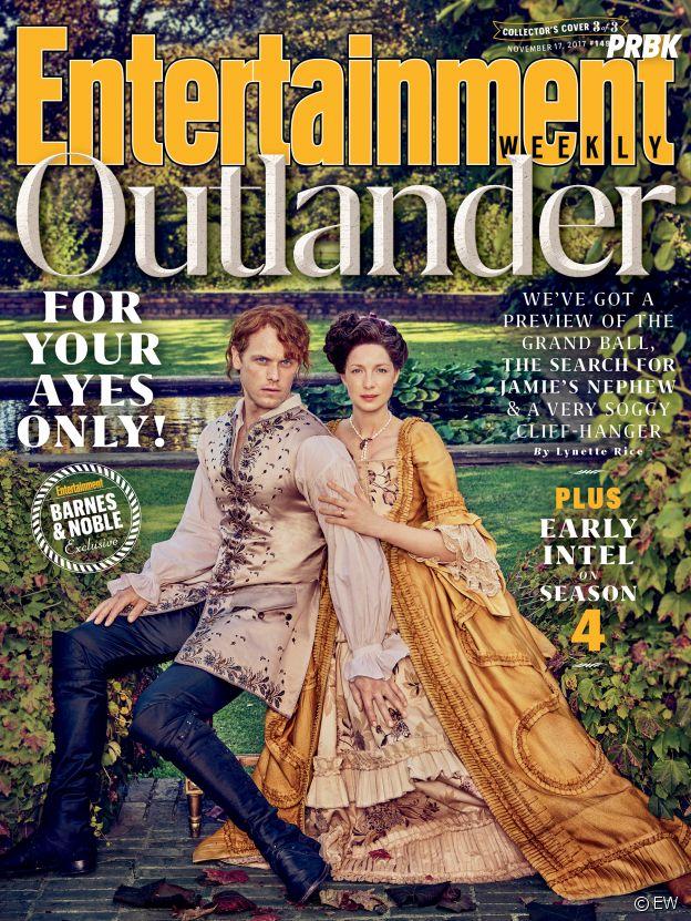 Sam Heughan et Caitriona Balfe en Une de Entertainment Weekly