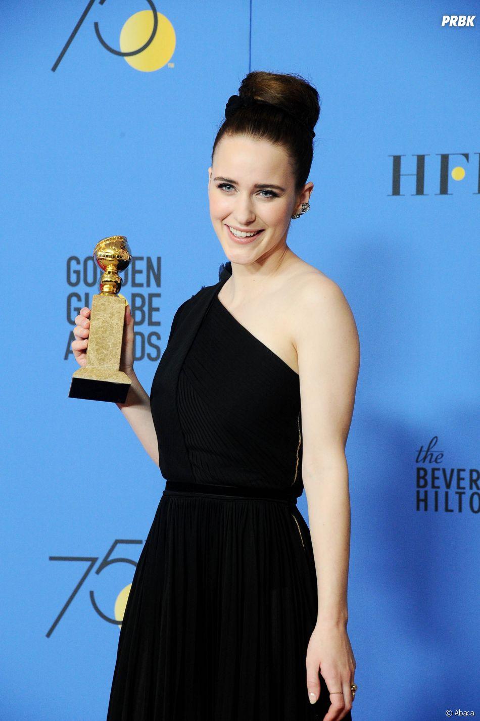 Rachel Brosnahan gagnante aux Golden Globes 2018 le 7 janvier à Los Angeles