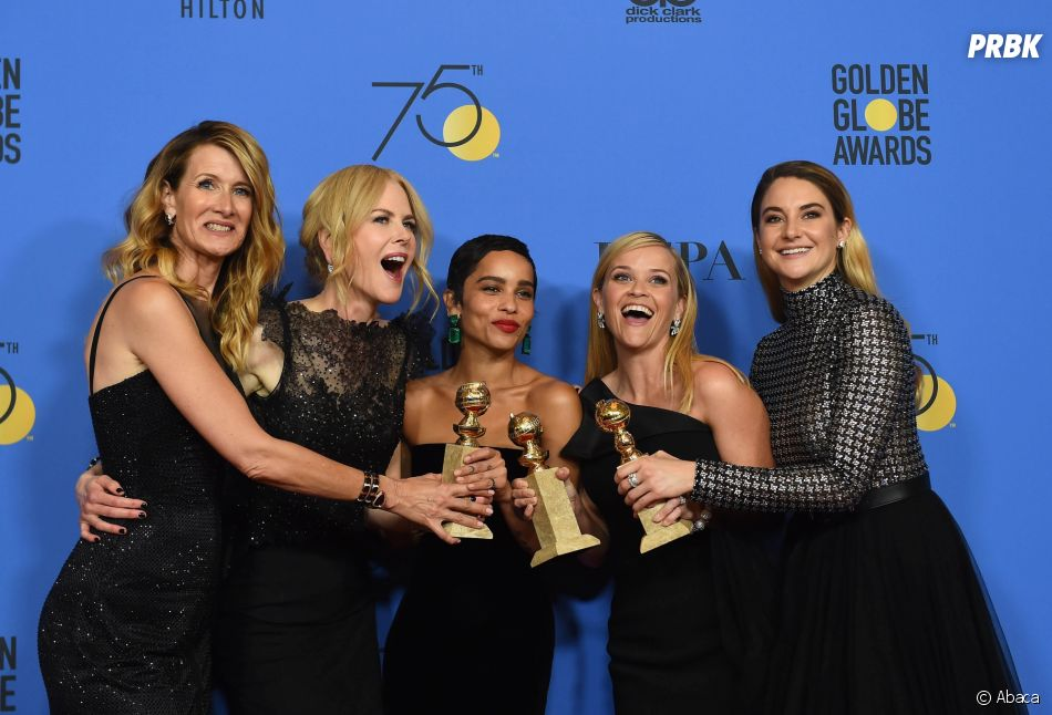 Big Little Lies gagnante aux Golden Globes 2018 le 7 janvier à Los Angeles