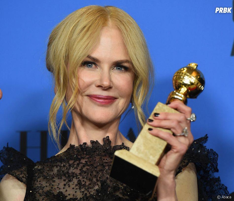 Nicole Kidman gagnante aux Golden Globes 2018 le 7 janvier à Los Angeles