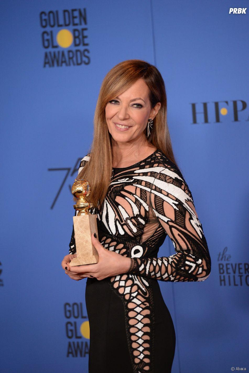 Allison Janney gagnante aux Golden Globes 2018 le 7 janvier à Los Angeles