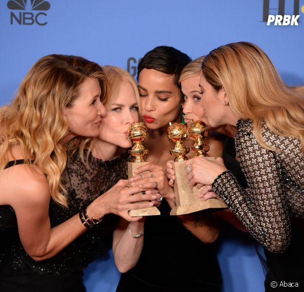 Les stars de Big Little Lies, grande gagnante des Golden Globes 2018 le 7 janvier à Los Angeles