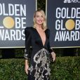 Margot Robbie sur le tapis rouge des Golden Globes 2018 le 7 janvier à Los Angeles