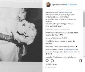 Ophélie Meunier annonce son mariage avec Mathieu Vergne sur Instagram