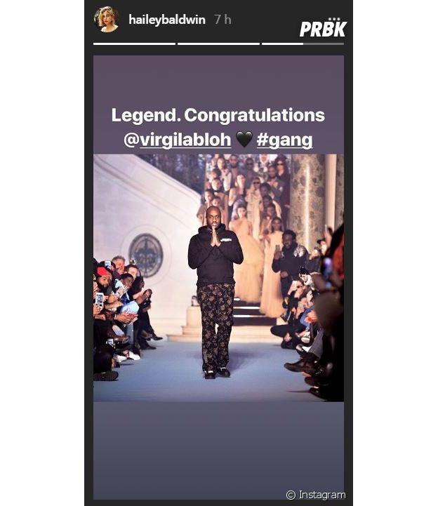 Virgil Abloh nommé DA chez Louis Vuitton : Hailey Baldwin réagit !