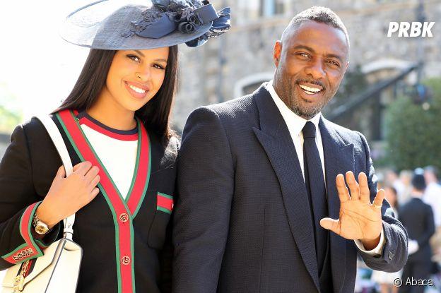 Idris Elba et sa fiancée Sabrina Dhowre au mariage de Meghan Markle et du Prince Harry.