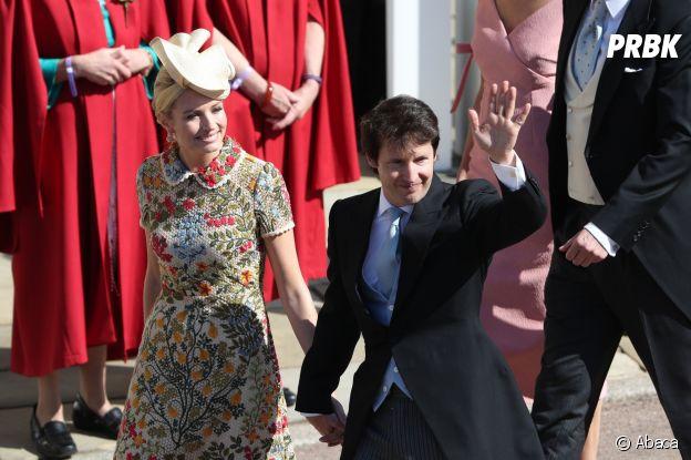 James Blunt et sa femme Sofia Wellesley au mariage de Meghan Markle et du Prince Harry.