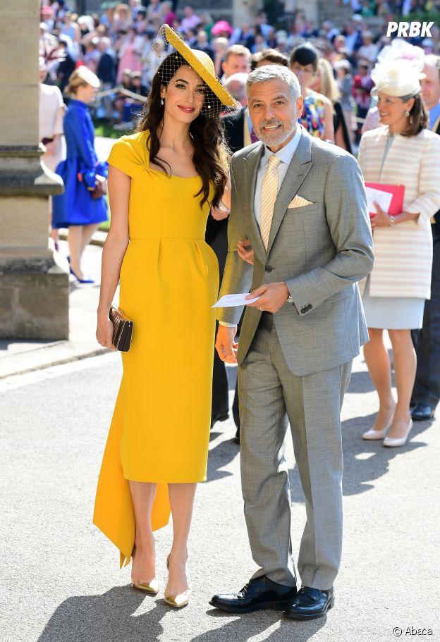George Clooney et Amal Clooney au mariage de Meghan Markle et du Prince Harry.