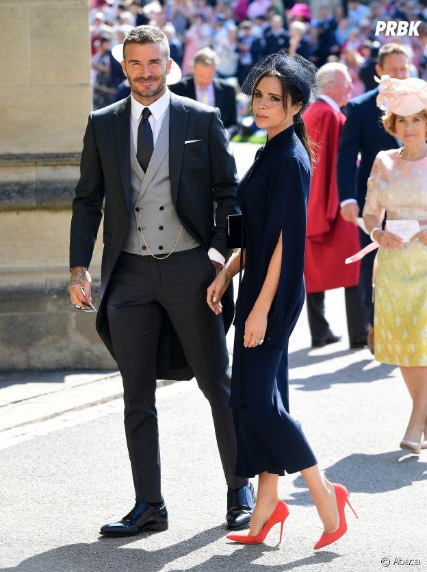 David Beckham et Victoria Beckham au mariage de Meghan Markle et du Prince Harry.