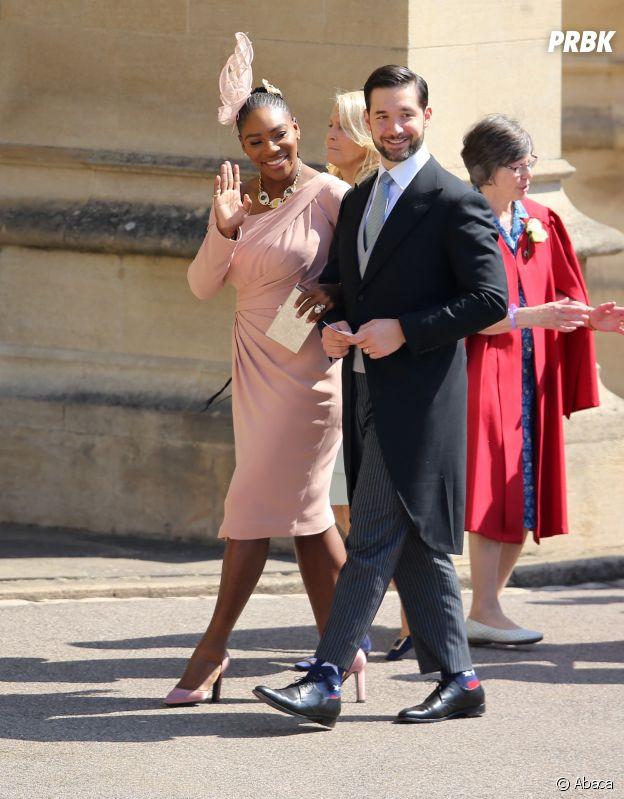Serena Williams et son mari Alexis Ohanian au mariage de Meghan Markle et du Prince Harry.