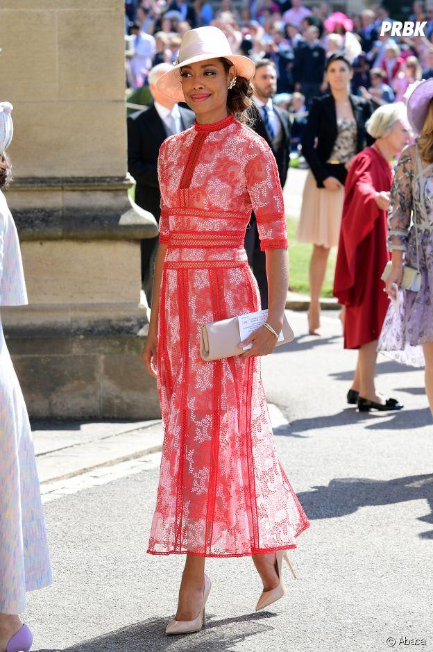 Gina Torres au mariage de Meghan Markle et du Prince Harry.