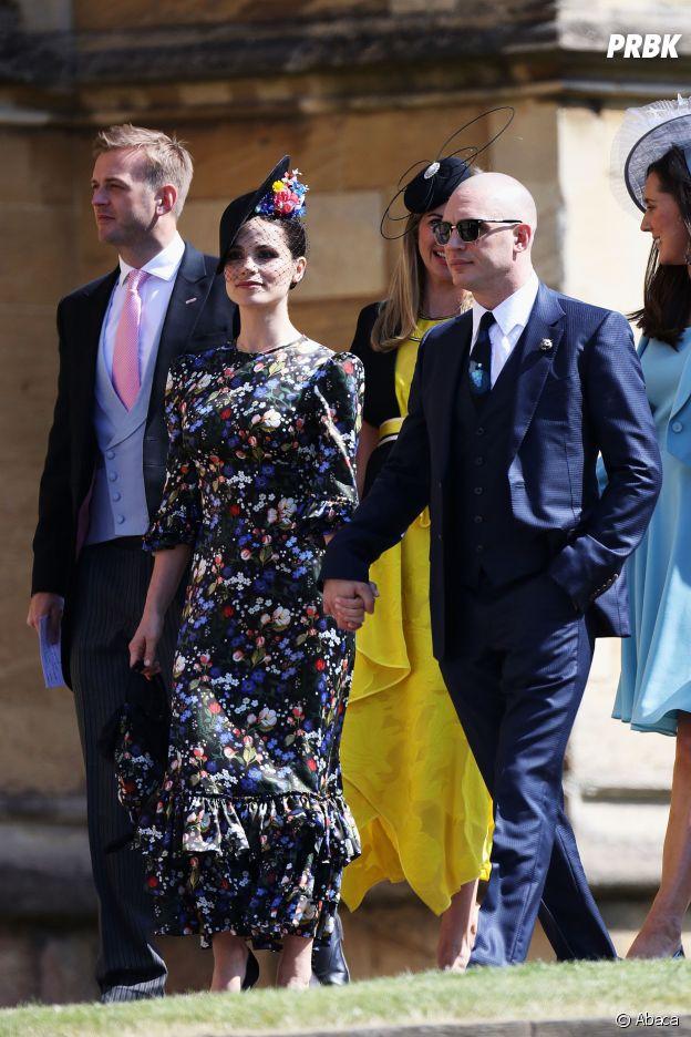 Tom Hardy et sa femme Charlotte Riley au mariage de Meghan Markle et du Prince Harry.