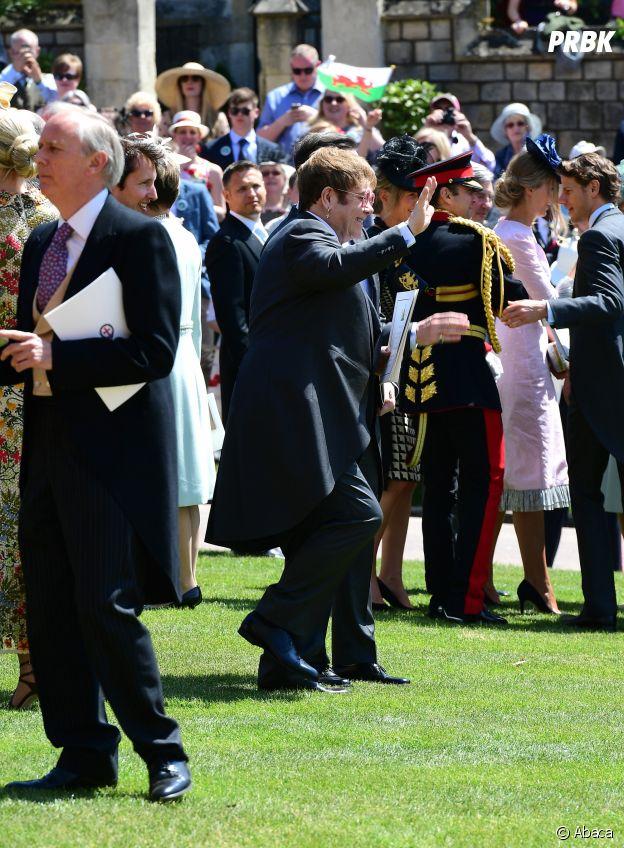 Elton John au mariage de Meghan Markle et du Prince Harry.