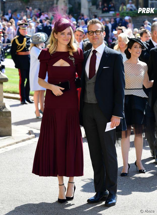 Gabriel Macht et et sa femme Jacinda Barrett au mariage de Meghan Markle et du Prince Harry.