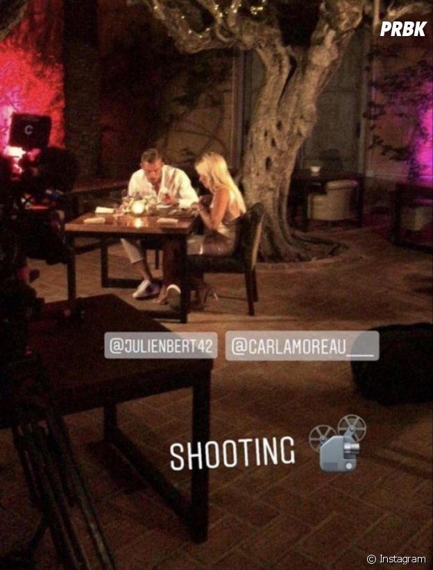 Les Marseillais VS Le reste du monde 3 : Carla Moreau et Julien Bert en plein dîner romantique sur le tournage