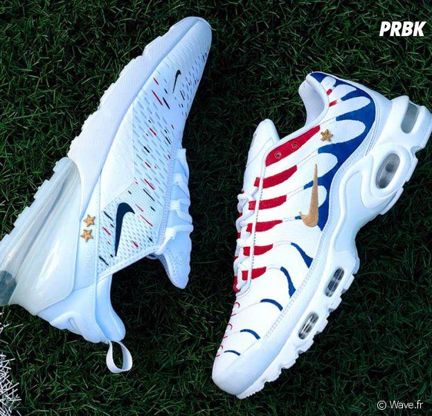 new products 27956 a07a8 Kylian Mbappé   deux paires de Nike Air customisées juste pour lui après le  titre de