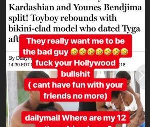 Kourtney Kardashian célibataire ? Elle serait séparée du français Younes Bendjima, il réagit aux rumeurs de tromperies !