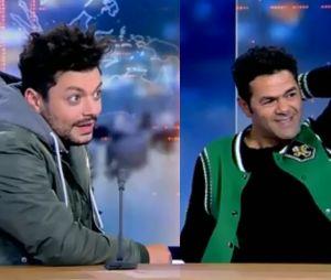 Kev Adams et Jamel Debbouze incontrôlables sur un plateau télé en Belgique.