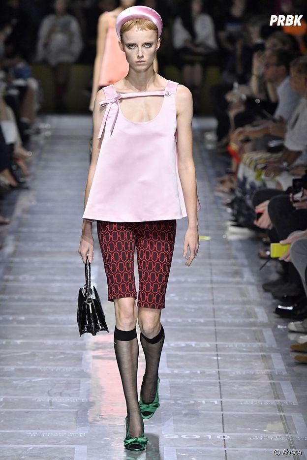 Le short cycliste vu sur le défilé de Prada lors de la Milan Fashion Week.