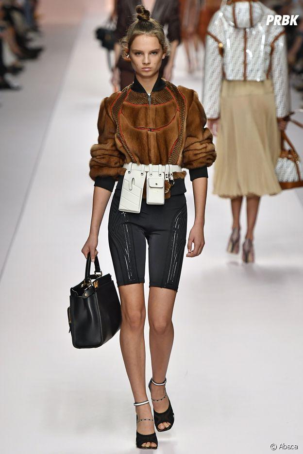Le short cycliste vu sur le défilé de Fendi lors de la Milan Fashion Week.