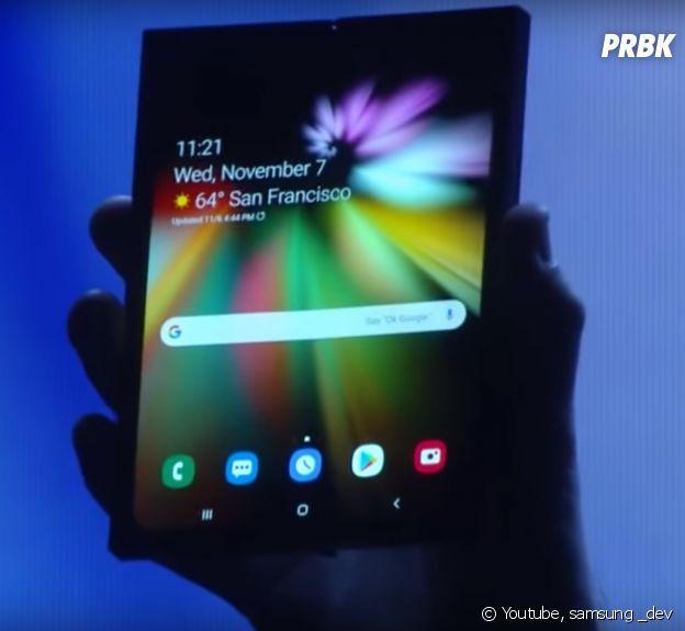 Infinity Flex Display : Samsung a dévoilé son 1er smartphone pliable à la Samsung Developer Conference, à San Francisco.
