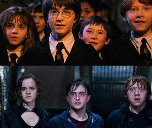 Daniel Radcliffe, Emma Watson... les stars de Harry Potter dans le premier film VS dans le dernier