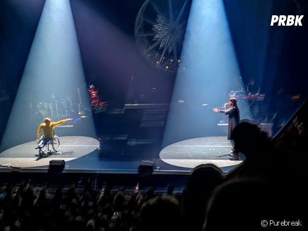 Slimane en concert à Paris : il invite Nathan, danseur handicapé sur scène