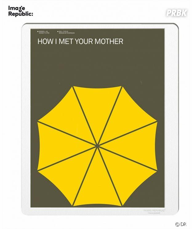 Nos idées cadeaux pour Noël 2018 : l'affiche minimaliste How I Met Your Mother