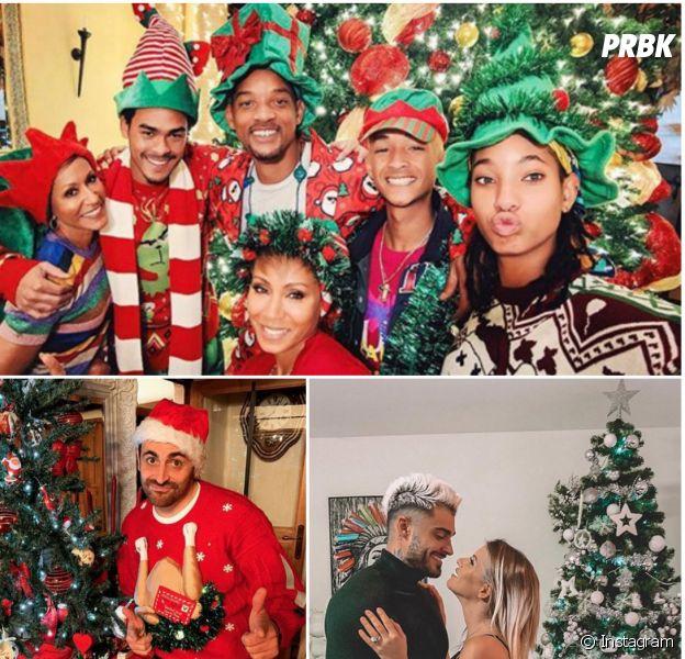 Camille Combal, Cristiano Ronaldo : comme vous, les stars ont pris des photos kitschs pour Noël