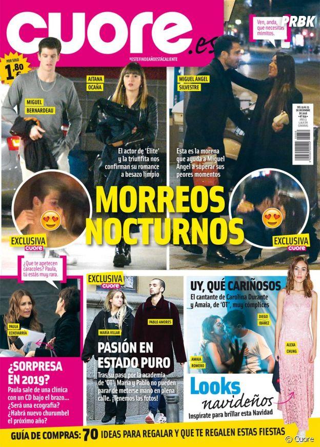 Miguel Bernardeau et Aitana en couverture du magazine espagnol Cuore